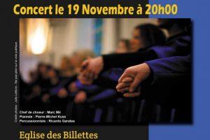 Concert à l'Eglise des Billettes à Paris