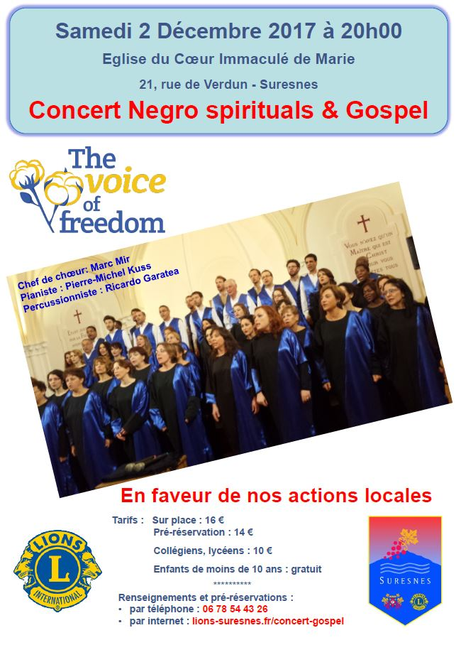 The Voice of Freedom à Suresnes