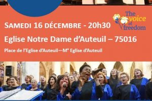 The Voice of Freedom chante pour le Secours Catholique!