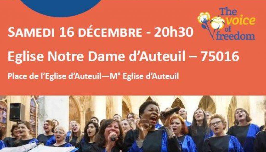 The Voice of Freedom chante pour le Secours Catholique!