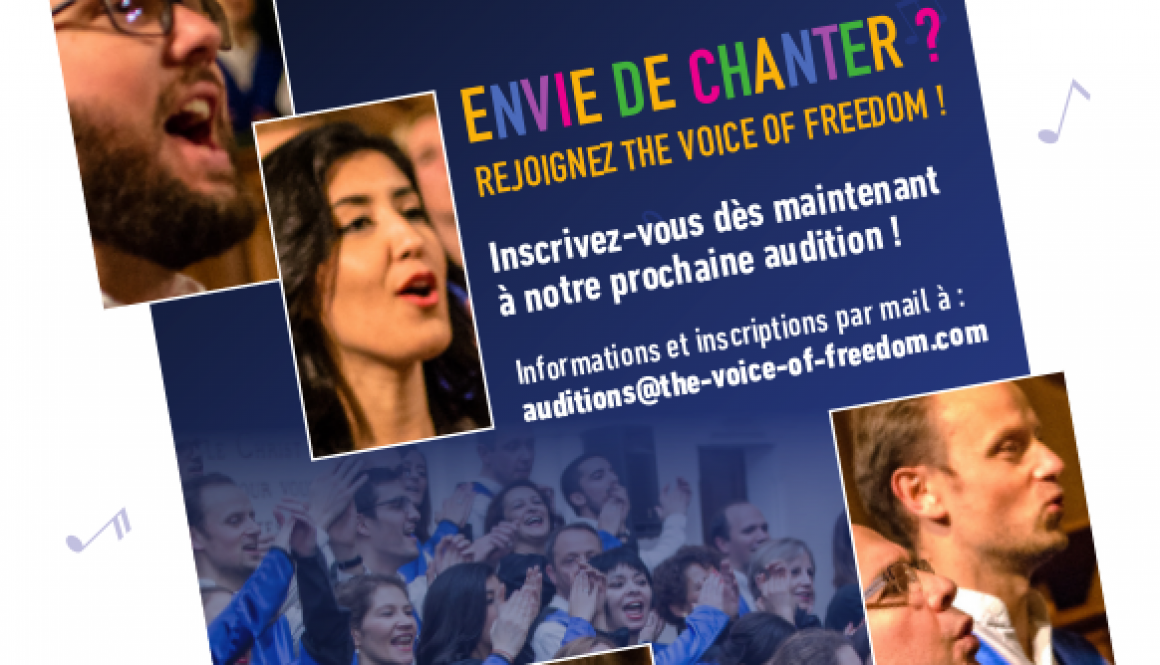 Auditions ouvertes pour The Voice Of Freedom !!