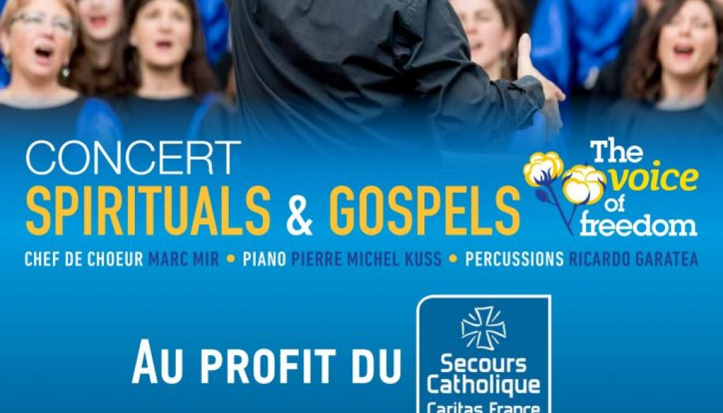 The Voice of Freedom chante pour le Secours Catholique