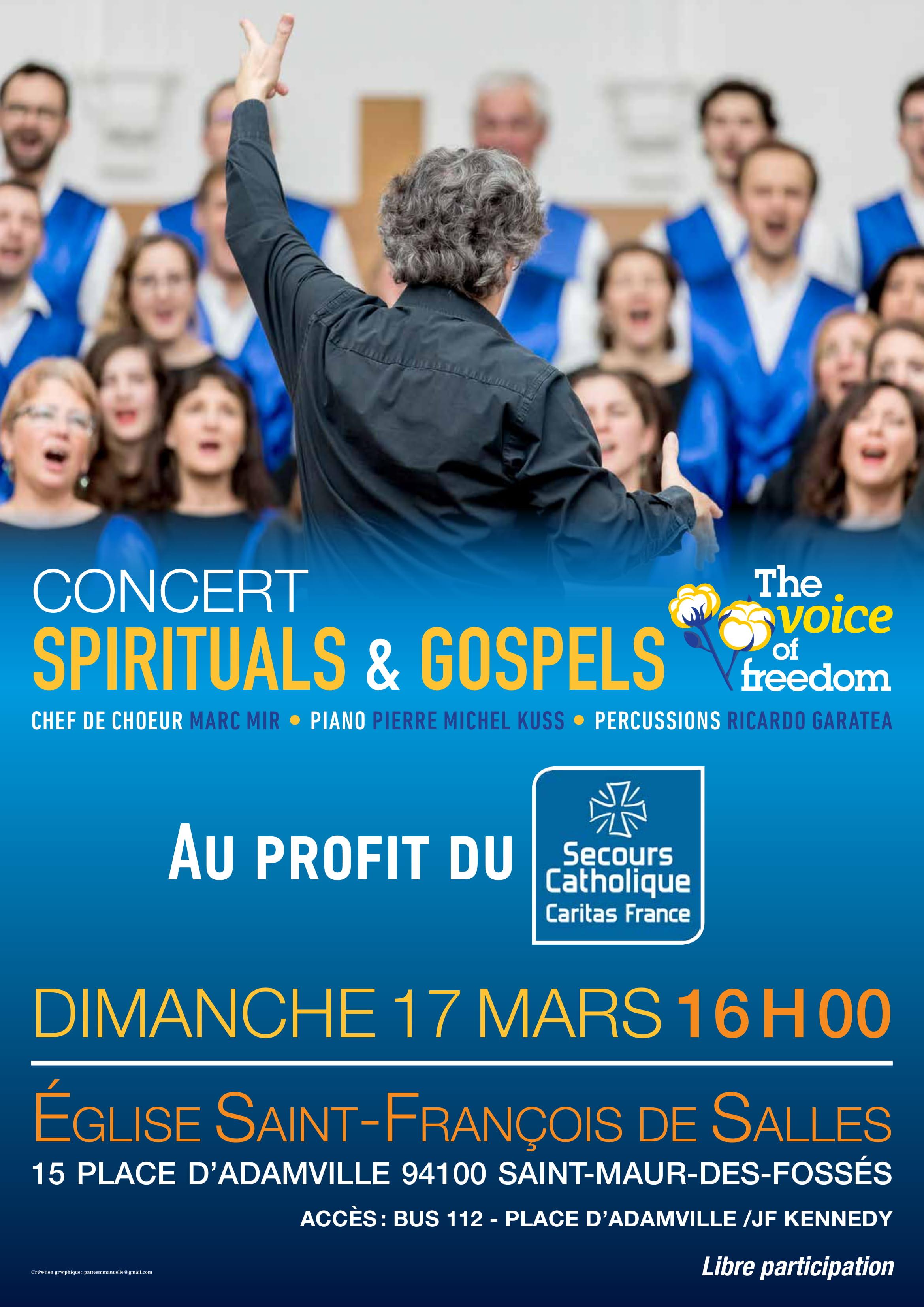 The Voice of Freedom chante pour le Secours Catholique
