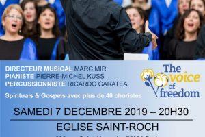 Concert à l'église Saint-Roch le 7 Décembre 2019