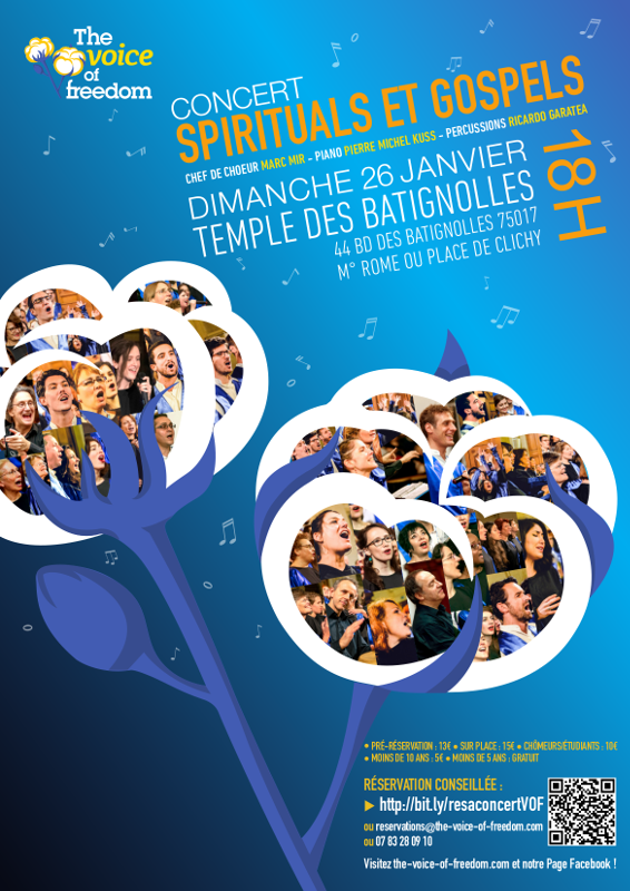 Concert au Temple des Batignolles, à Paris, le 26 janvier 2020